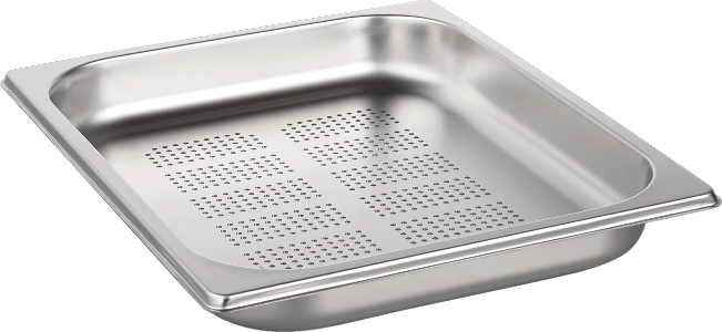 STEAM BAKING PAN GN 1/2 325X265X40 PERF.